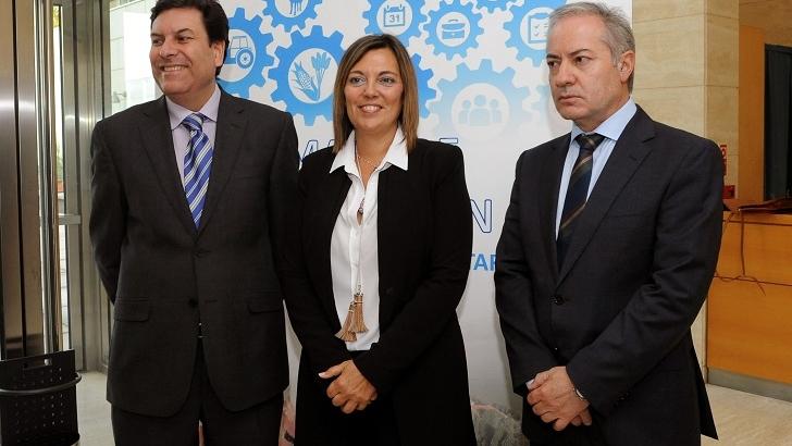 Consejera de agricultura Milagros Barros en la presentación del mapa de formación agaria